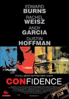 Confidence - Swedish Movie Poster (xs thumbnail)