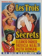 Three Secrets - Belgian Movie Poster (xs thumbnail)