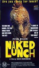 Naked Lunch - Australian VHS cover (xs thumbnail)