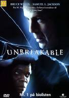 Unbreakable - Danish Movie Cover (xs thumbnail)
