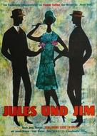Jules Et Jim - German Movie Poster (xs thumbnail)