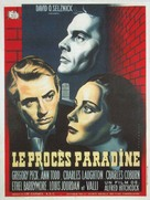 The Paradine Case - French Movie Poster (xs thumbnail)