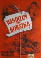 The Bandits of Corsica - German Movie Poster (xs thumbnail)