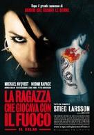 Flickan som lekte med elden - Italian Movie Poster (xs thumbnail)
