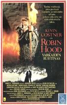 Robin Hood - Finnish VHS movie cover (xs thumbnail)