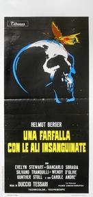 Una farfalla con le ali insanguinate - Italian Movie Poster (xs thumbnail)