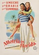 Moon Over Miami - German Movie Poster (xs thumbnail)