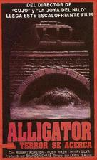 Alligator - Argentinian VHS movie cover (xs thumbnail)