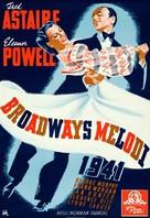 Broadway Melody of 1940 - Swedish Movie Poster (xs thumbnail)