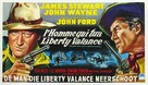 The Man Who Shot Liberty Valance - Belgian Movie Poster (xs thumbnail)