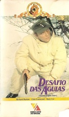 Where Eagles Dare - Brazilian VHS movie cover (xs thumbnail)