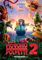 Cloudy with a Chance of Meatballs 2 - Italian Movie Poster (xs thumbnail)