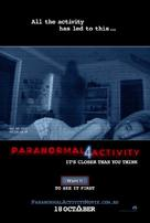 Paranormal Activity 4 - Australian Movie Poster (xs thumbnail)
