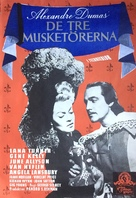 The Three Musketeers - Swedish Movie Poster (xs thumbnail)