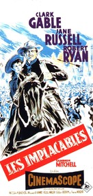 The Tall Men - French Movie Poster (xs thumbnail)