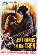 Strangers on a Train - Spanish Movie Poster (xs thumbnail)