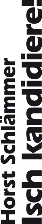 Horst Schlämmer - Isch kandidiere! - German Logo (xs thumbnail)