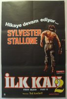 Rambo: First Blood Part II - Turkish Movie Poster (xs thumbnail)