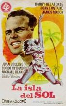 Island in the Sun - Spanish Movie Poster (xs thumbnail)