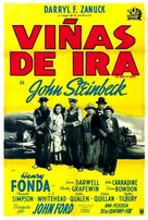 The Grapes of Wrath - Spanish Movie Poster (xs thumbnail)