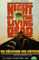 Night of the Living Dead - German VHS movie cover (xs thumbnail)