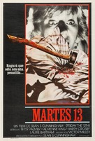 Friday the 13th - Argentinian Movie Poster (xs thumbnail)