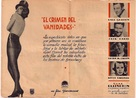 Murder at the Vanities - Spanish poster (xs thumbnail)