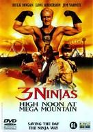 3 Ninjas: High Noon at Mega Mountain - Dutch DVD cover (xs thumbnail)