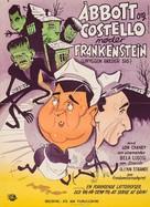 Bud Abbott Lou Costello Meet Frankenstein - Danish Movie Poster (xs thumbnail)
