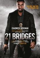 21 Bridges - Malaysian Movie Poster (xs thumbnail)