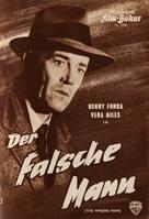 The Wrong Man - German poster (xs thumbnail)