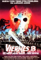 Friday the 13th Part VIII: Jason Takes Manhattan - Spanish Movie Poster (xs thumbnail)