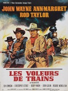 The Train Robbers - French Movie Poster (xs thumbnail)