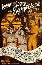 Abbott and Costello Meet the Mummy - Finnish Movie Poster (xs thumbnail)