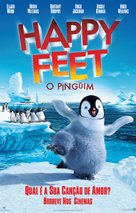 Happy Feet - Brazilian Movie Poster (xs thumbnail)