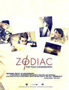 Zodiac - For your consideration movie poster (xs thumbnail)