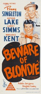 Beware of Blondie - Australian Movie Poster (xs thumbnail)