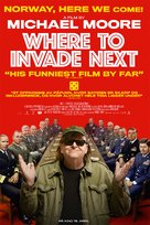 Where to Invade Next - Norwegian Movie Poster (xs thumbnail)