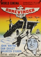 The Wings of Eagles - Danish Movie Poster (xs thumbnail)