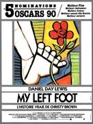 My Left Foot - French Movie Poster (xs thumbnail)