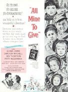 All Mine to Give - Theatrical movie poster (xs thumbnail)