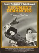 Vivement dimanche! - French Movie Poster (xs thumbnail)