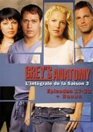 """""""Grey's Anatomy"""" - French DVD movie cover (xs thumbnail)"""