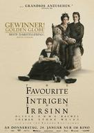 The Favourite - German Movie Poster (xs thumbnail)
