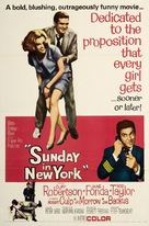 Sunday in New York - Movie Poster (xs thumbnail)