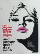 Et Dieu... créa la femme - German Movie Poster (xs thumbnail)