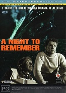 A Night to Remember - Australian DVD movie cover (xs thumbnail)