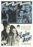The Blue Dahlia - Spanish Movie Poster (xs thumbnail)