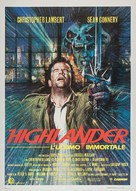 Highlander - Italian Movie Poster (xs thumbnail)