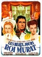 Les beaux jours du roi Murat - French Movie Poster (xs thumbnail)